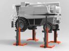 Elevadores móviles para tractores
