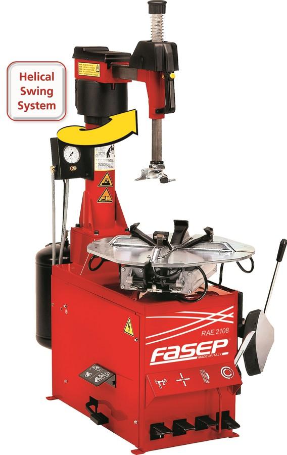 Desmontadora automática de ruedas RAE 2108 con brazo giratorio