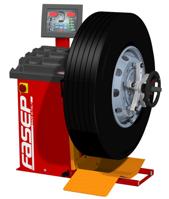 Equilibradora de ruedas de vehículos industriales