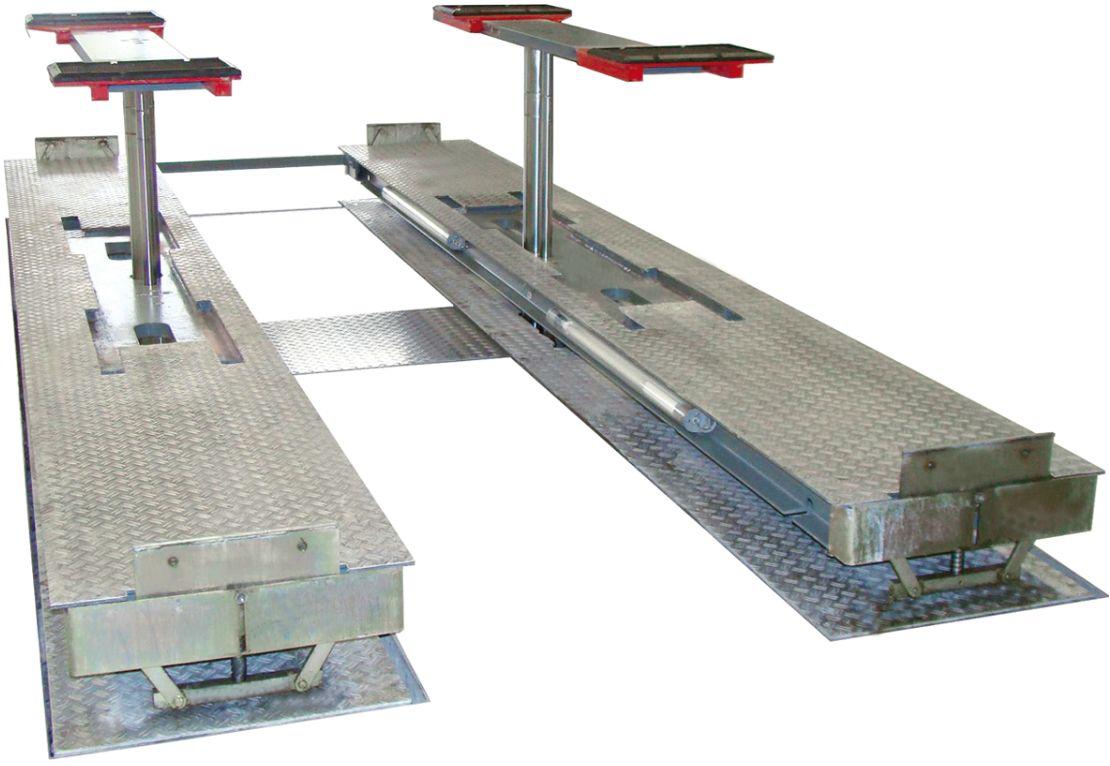 Elevador de piston con rampas y elevador auxiliat TwinRam 350A_N Deluxe BIG