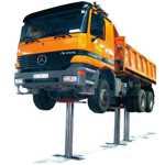 Elevador de tres pistones para camiones, autobuses y todo tipo de vehículos industriales